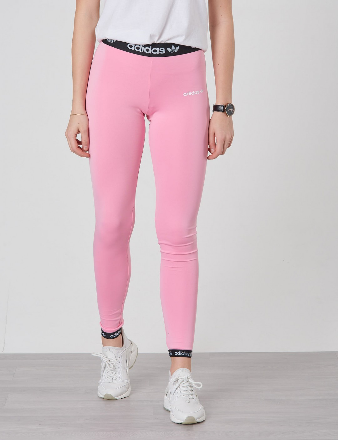 adidas essentials rosa schwarz top